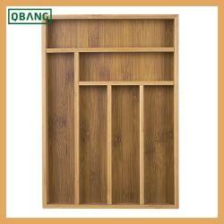 100% Bambus-Küche-Gerät, Besteck, Tischbesteck-Fach-Organisator-Tellersegment