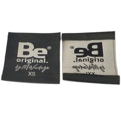 Roupas de poliéster algodão personalizada Mala Bocal de Damasco etiqueta com a etiqueta de identificação de impressão da marca de tecido grosso autocolante de acessórios de vestuário Patch Emblema uniforme