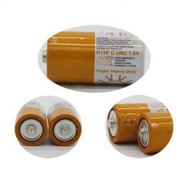 R14 Um-2 C 1.5V Kohlenstoff-Zink-trockene Zellen-Batterie der Batterie-Größen-C 1.5V R14p