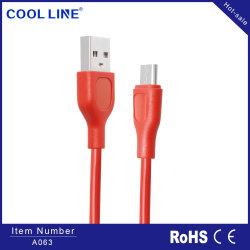 Friso de PVC Striped Cabo USB, USB 2.0 Am cabo de dados e cabo Micro