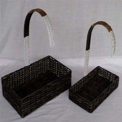 Renel gros spécial de la conception de stockage en rotin panier en plastique avec poignée