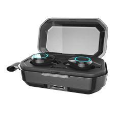 Twsの無線ヘッドホーンBluetoothは5.0個のイヤホーンIpx7はヘッドセットの指紋の接触イヤホーンを防水する(3000のmAhの充満ボックスと)