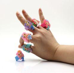 Los niños el deporte de silicio Mermaid Juego de anillo de silicona anillos lindo