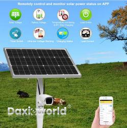 Energía Solar 4G Wireless WiFi cámara PTZ IP CCTV al aire libre con el apoyo de 128 GB Tarjeta Micro SD de la visualización remota