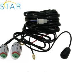 Qualidade superior de carro automático eléctrico H4 Luz de nevoeiro da retaguarda 10090W Kit Controlador de fiação com o soquete do relé
