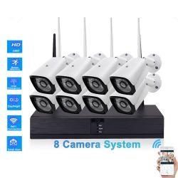 8CH WiFiの監視IPネットワーク屋外の無線ホームセキュリティーのシステムカメラキット