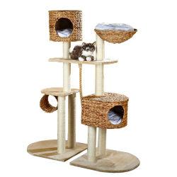 Простая сборка прочного Cat дерево дом с гамаком