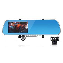 LCD van 4.3 Duim VideoAuto DVR van de Lens van het Scherm de Dubbele