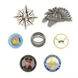 Настраиваемый логотип сложные многоцветные мягкой эмали монет Reeded края Европы сувенирный цинкового сплава
