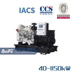 40-1150kw embarcación auxiliar de buque generador marinos diésel de emergencia propulsado por motores Cummins Certificado Sigc Bureau Veritas css
