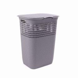Vimine di plastica caldo 55 L cestino di vendita pp di buona qualità grande di lavanderia con il coperchio