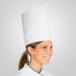 Nonwoven desechables gorros de chef Chef de papel blanco Hat para Restaurante