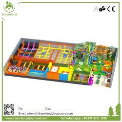 Grand terrain de jeux intérieur Fun commerciale juste avec Bungee Jumping Trampoline pour la vente à l'intérieur du parc