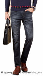 高品質によって使用される着るビジネスまっすぐな伸張の方法デニムのジーンズ