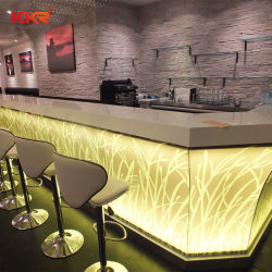 Mobilier moderne personnalisé Corians Accueil Comptoir de Bar Table