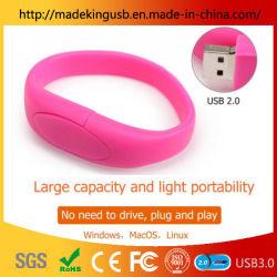 Personality Soft Plastic Silicone Wrist Pen Drive / Armband Oem Usb Flash Drive