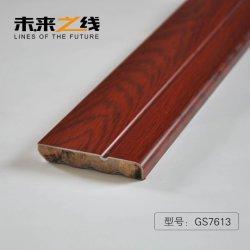 Lamellenförmig angeordnete Fußboden-hölzerne Wand-Sockelleiste