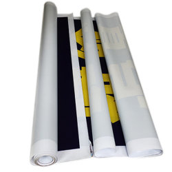 Banner de flexible de PVC/Gris/vinilo atrás la publicidad exterior