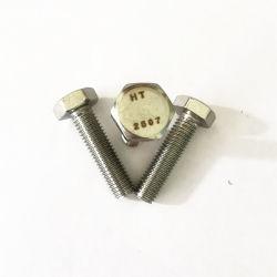 DIN931 2507 Duplex 1.4410 S32750 Parafuso sextavado com porca