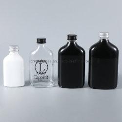 De vlakke Fles van de Drank van de Fles 50ml-500ml van het Glas van de Wijn van de Geesten van de Alcohol van de Alcoholische drank van de Fles