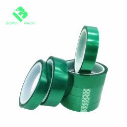 Selbstklebendes Haustier-Grün-Polyester-Hochtemperatursilikon-Klebstreifen