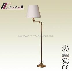 Plancher permanent en cuivre moderne lampe pour chambre d'hôtel