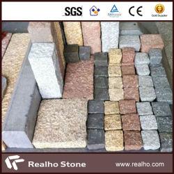 De donkere Grijze Kubus van het Graniet van het Basalt G654/Lichtgrijze G603/Black G684/Yellow G682/Black/Cobblestone/Straatsteen/Betonmolen
