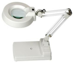 Tischplattenlampe 3X Magnifer LED Licht mit optisches Glas-Falz-Standplatz