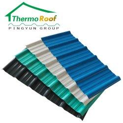 Isolation en plastique anti-rouille Matériel PVC UPVC tuile de toit pour Feuille industrielle