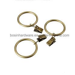 Cortina de metal de hierro Vintage Clip con el anillo de 25mm