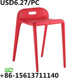 Укладка со сдвигом пластика для отдыха в саду дома Moderng Возлежащий рамы обеденный стул