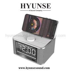 Drahtloser beweglicher MiniBluetooth Radiolautsprecher der LCD-Zeit-Bildschirmanzeige-Alarmuhr USB-Aufladeeinheits-FM