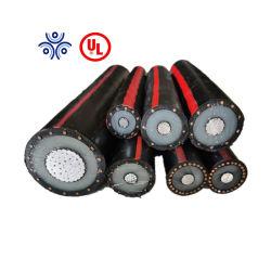 Câble du transformateur 750mcm 600mcm 15kv 133 % de cuivre aluminium XLPE UL Câble électrique