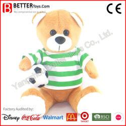 Le decorazioni all'ingrosso di natale hanno farcito la bambola elettrica molle del giocattolo dei bambini dell'orso dell'orsacchiotto della peluche