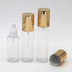 Muestras gratis mascota Loción Fancy botellas de plástico envases cosméticos de lujo vaciar botellas Crema Loción exclusivas Botellas con tapón de oro