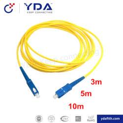 FTTH de Verbindingsdraad van de Fabrikant Sc/FC/LC/St/Mu/E2000/Vlecht/de Vezel Optische Patchcord van de Schakelaar van de Kabel van Patchcord/van het Flard
