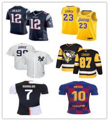 フットボールのワイシャツのバスケットボールのワイシャツの野球のワイシャツのホッケーのワイシャツのサッカーのワイシャツ