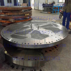El Titanio/Ss intercambiador de calor de la hoja de tubo de acero/ Tubesheet de titanio para Intercambiador de calor