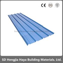 La vente en gros de couleur des feuilles en acier ondulé feuille métallique bardage Feuille de toiture pour les matériaux de construction de tôle en acier galvanisé