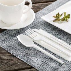 Coltelleria biodegradabile degli articoli per la tavola di PLA, forcella di PLA, lama, cucchiaio