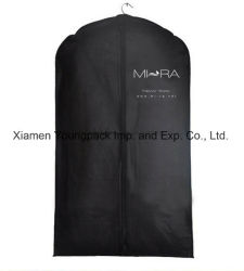 Commerce de gros imprimés personnalisés Mens noir Vêtements TNT Cache-poussière Non-Woven promotionnel costume de voyage couvre du vêtement