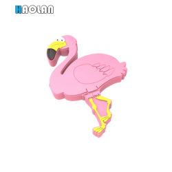 Uccello sveglio 3.5mm divisore della cuffia della cuffia di musica di disegno del fumetto di 1 - 2 modi audio