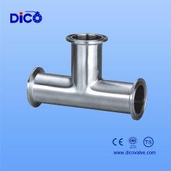 الفولاذ المقاوم للصدأ الصحة الغذائية درجة من الصلب Tee لعلامة Dico التجارية