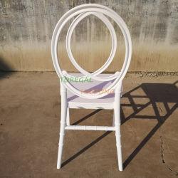 Decoração moderna branco resina monobloco Phoenix cadeiras de plástico para jantar de casamento