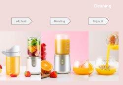 Frutas Verduras Mini USB portátil pequeña botella de vacío de la licuadora Cup