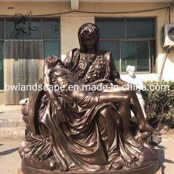 工場価格教会彫像の実物大の青銅色のピエタの彫刻Bfsy-012
