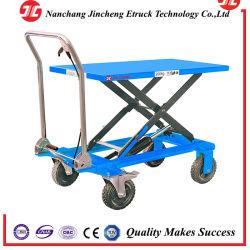 Мини-ручной гидравлический один подъемный стол ножничного типа ручной погрузчик для транспортировки поддонов