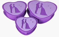 حفل زفاف صغير هدية مربع حلوى اللباد شكل القلب