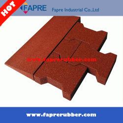 Venda quente EPDM pontos coloridos azulejos pisos de borracha de intertravamento na China