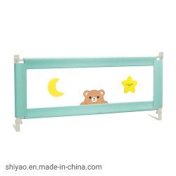 縦の持ち上がるベッドの柵が付いている赤ん坊のベビーサークル